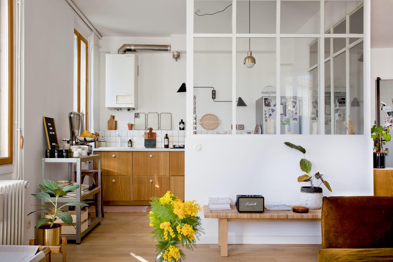 Verrière cuisine: conseils pour séparer la cuisine du salon