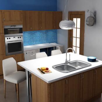 am nager un rangement sous un plan de travail. Black Bedroom Furniture Sets. Home Design Ideas
