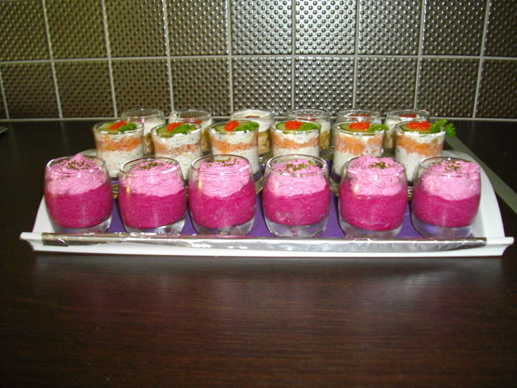 Recette de verrines bicolores de betteraves la recette - Cuisiner les betteraves rouges ...