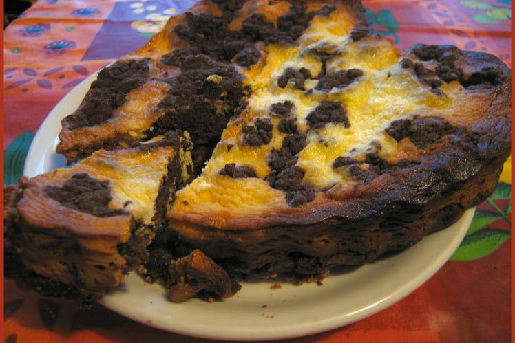 Brownie-cheesecake aux myrtilles