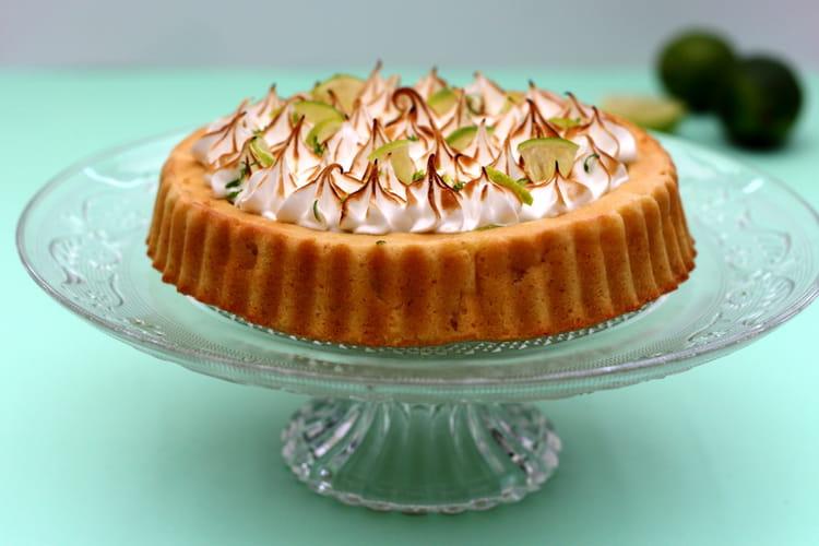Gâteau exotique meringué (ananas, coco et citron vert)