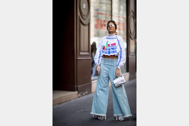 Street style à Paris : le denim