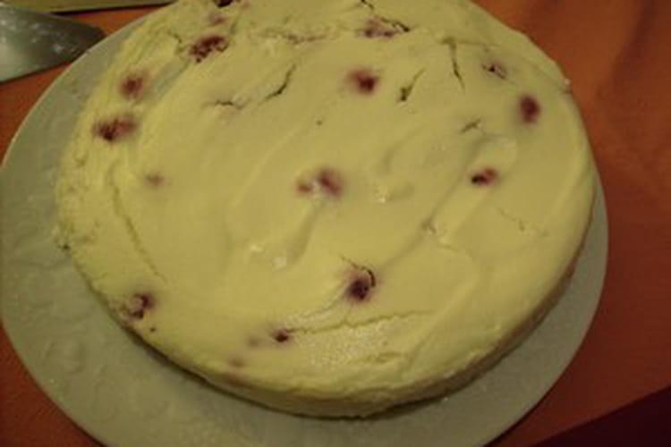 Cheesecake fourré aux framboises express