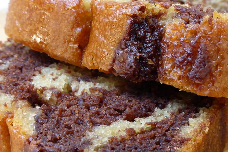 Gâteau marbré vegan sans oeuf et sans lait