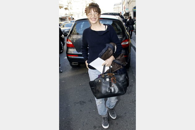 "Jane Birkin et son sac ""Birkin"" de Hermès"