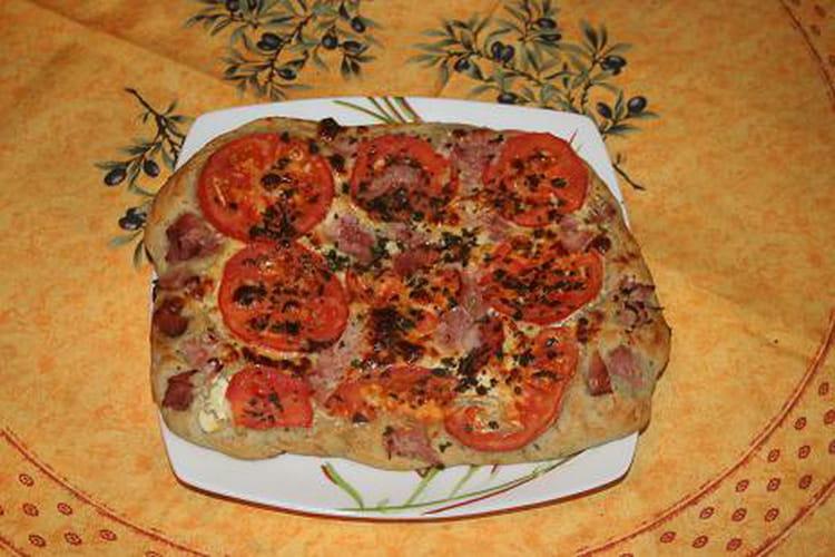 Fougasse à la tomate et mozzarella