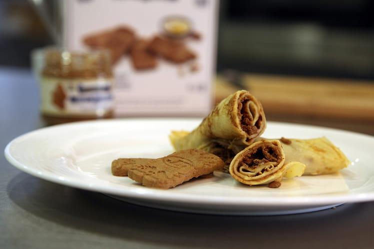 Les crêpes à la Pâte de Spéculoos et Spéculoos émiettés Jules Destrooper