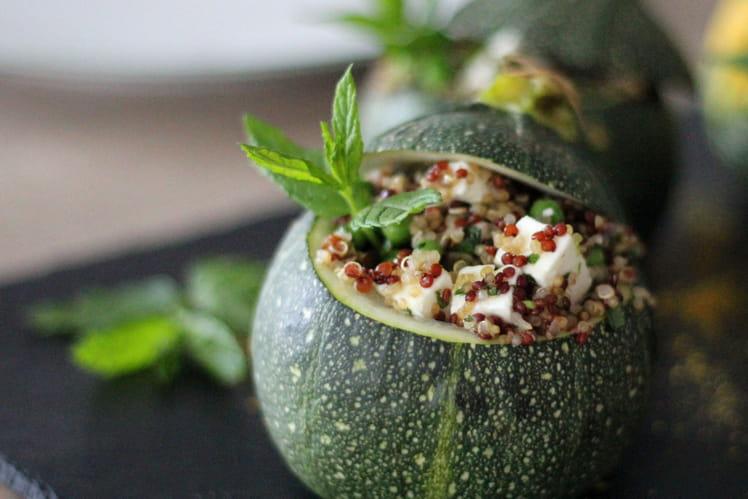Courgettes farcies au quinoa et à la fêta