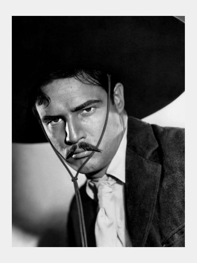 Mort Marlon Brando Viva Zapata 1952