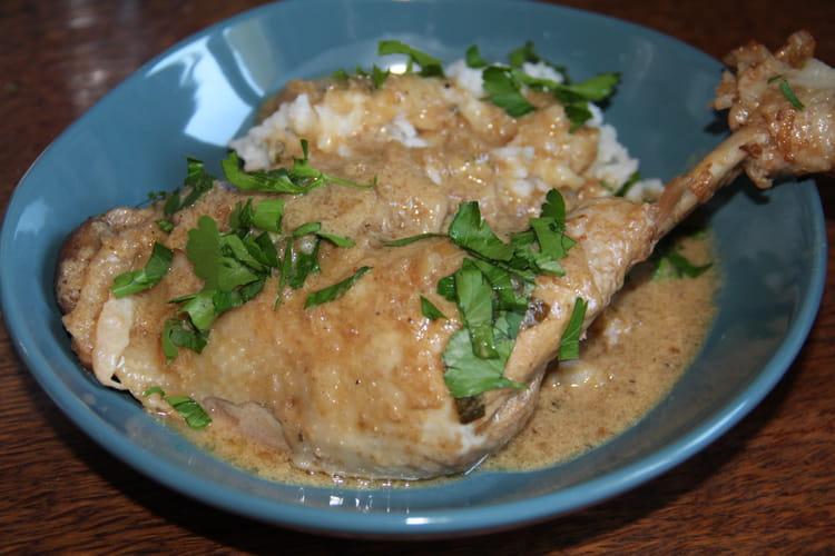 Fricassée de poulet au vinaigre