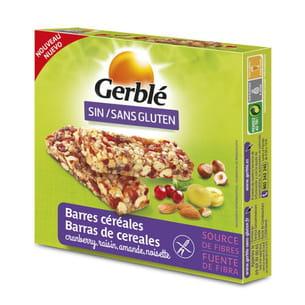 barres de céréales sans gluten de gerblé