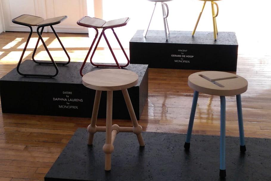 monoprix cr e des tabourets avec des designers n erlandais. Black Bedroom Furniture Sets. Home Design Ideas