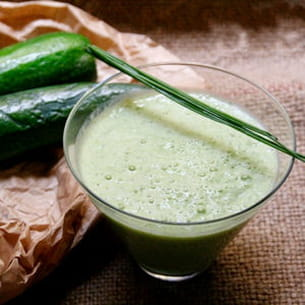 smoothie courgette ciboulette