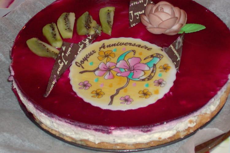 Gâteau mousse framboise-citron