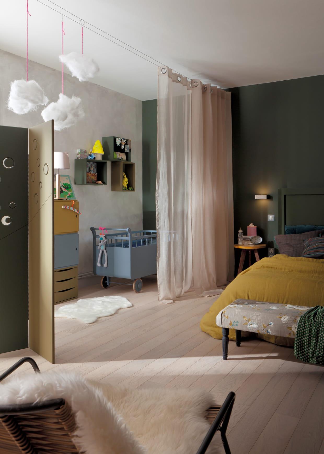 peinture kaki luxens. Black Bedroom Furniture Sets. Home Design Ideas