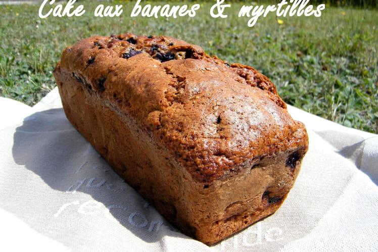 Cake banane-myrtilles ( sans beurre )