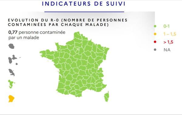 Carte France R0 coronavirus