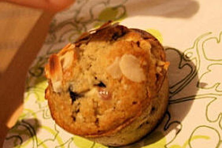 Muffins à la framboise et au chocolat blanc