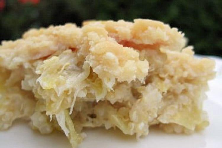 Crumble de poireaux au quinoa