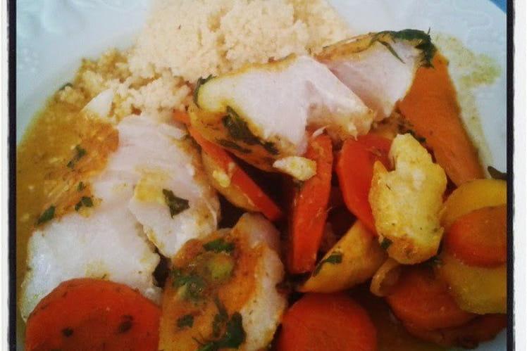 Dos de cabillaud au four façon tajine aux carottes panais et fenouil à l'orange