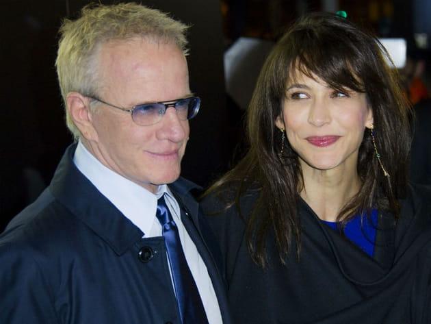 Sophie Marceau et Christophe Lambert au défilé armani
