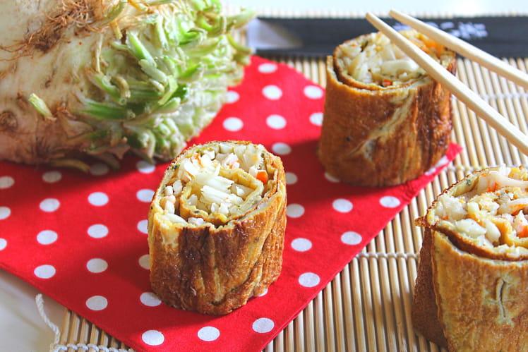 Crêpes d'œufs à la japonaise crabe et céleri