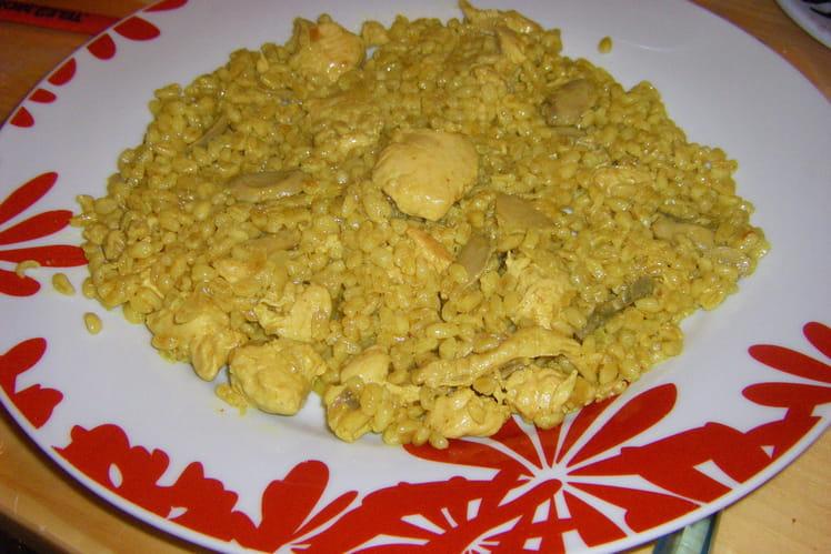 Pilaf de blé au poulet