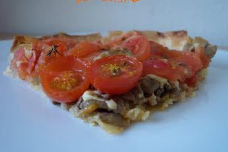 Tarte tomates et champignons au thym, en feuille de brick