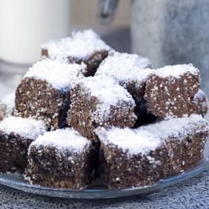bouchées crispy au chocolat noir