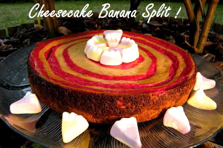 Banana split cheesecake