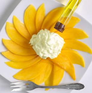 carpaccio de mangue vanillé