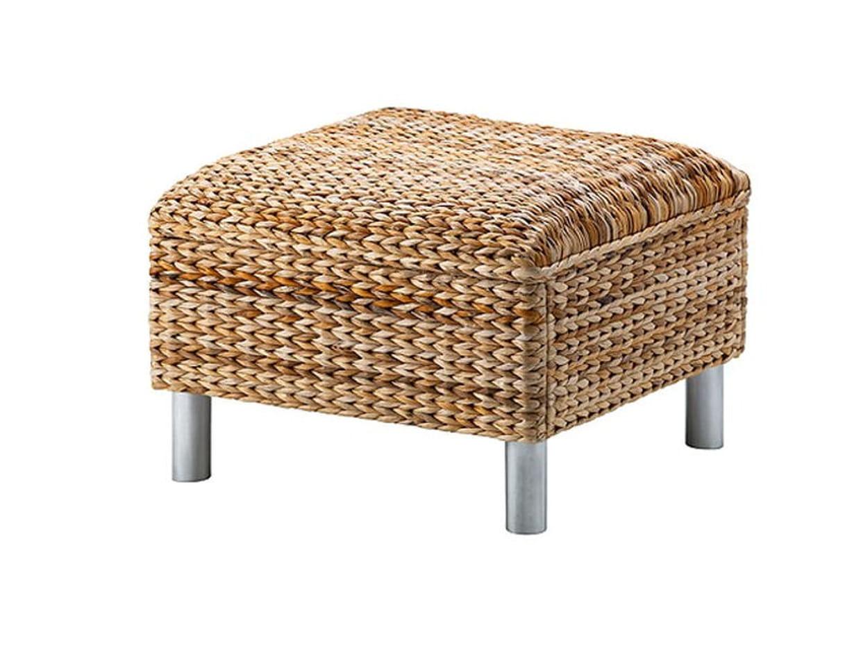 un pouf en fibres naturelles. Black Bedroom Furniture Sets. Home Design Ideas