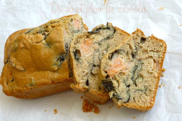 Cake au blé noir, algues et truite fumée