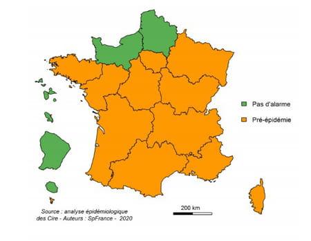 carte grippe épidémie région france