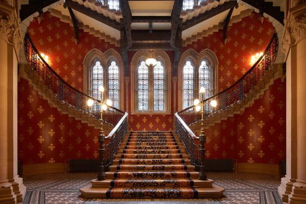 St. Pancras Renaissance London Hotel : l'escalier mythique