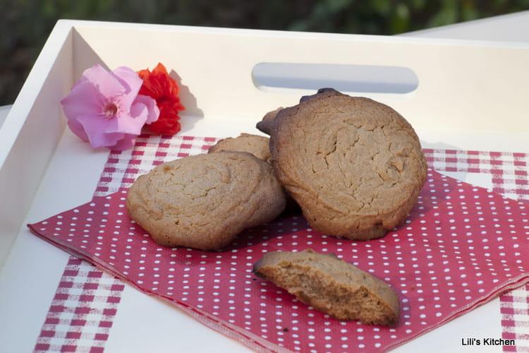 Cookies express sans farine et sans gluten au beurre de cacahuètes