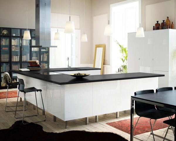 ilot de cuisine faktum abstrak d 39 ikea. Black Bedroom Furniture Sets. Home Design Ideas