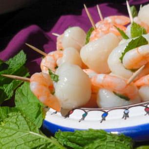 amuse-bouches litchi-crevette