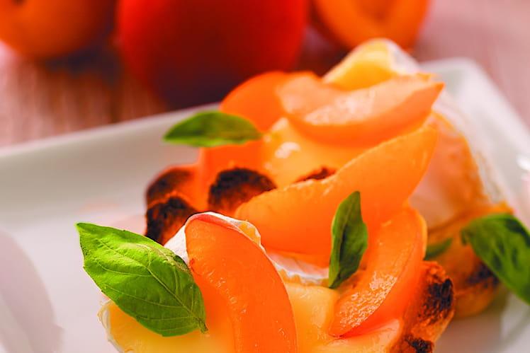 Brioche fondante de Camembert aux abricots et basilic