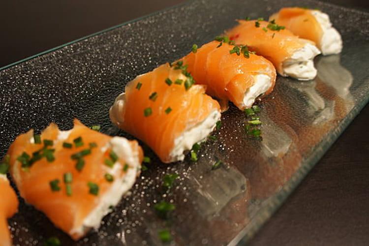 Roulés au saumon et fromage frais