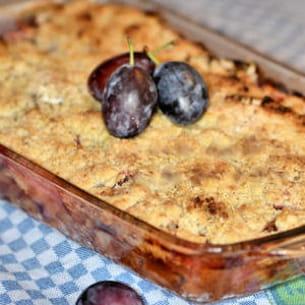 clafoutis-crumble aux quetsches & épices