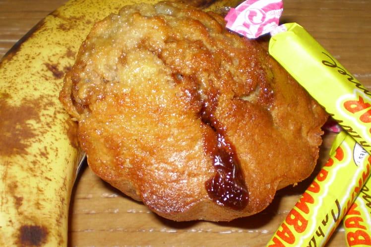 Muffins à la banane et au caramel
