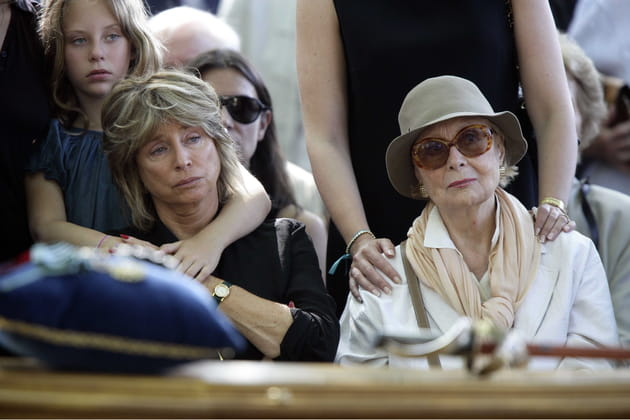 Aux obsèques de Gérard Oury, avec Danièle Thompson