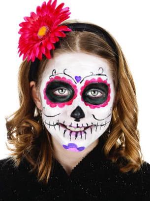 halloween un maquillage de squelette en 3 tapes. Black Bedroom Furniture Sets. Home Design Ideas