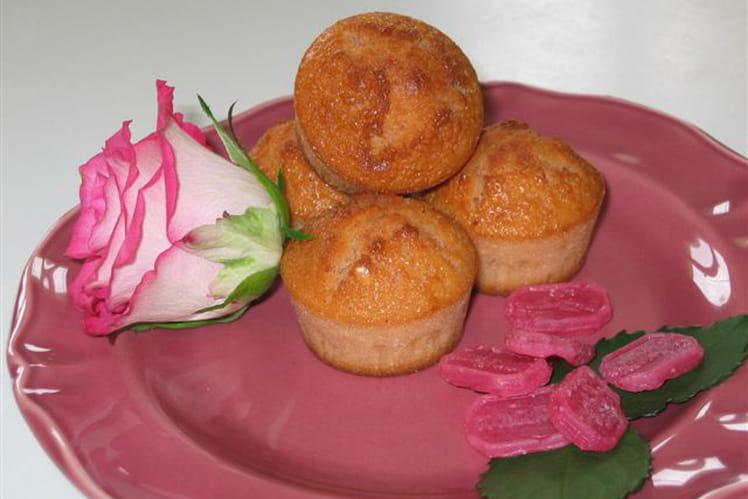 Muffins au coquelicot et à la rose