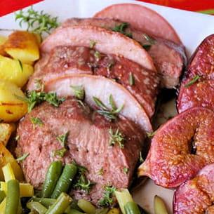 magrets de canard au bacon et aux figues
