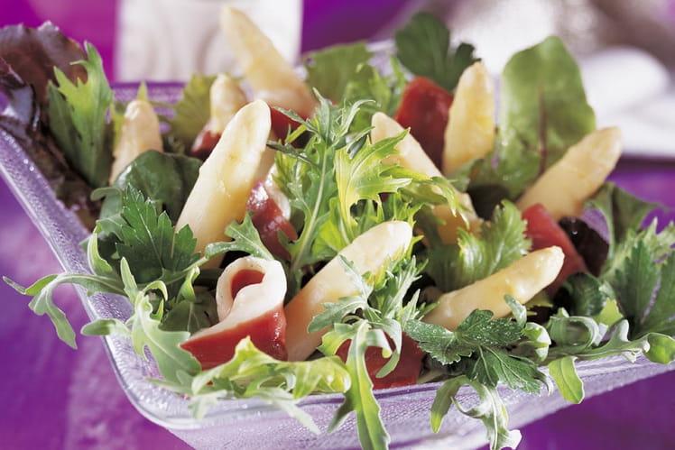 Salade gourmande magret et asperges