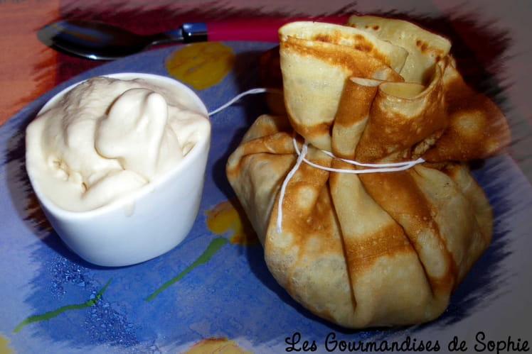 Aumônières de pommes au caramel au beurre salé