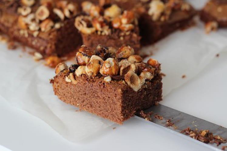 Brownie Nutella et noisettes caramélisées