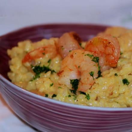Risotto aux crevettes et curry - Risotto noel ...